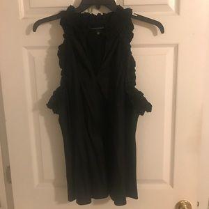 Banana republic black cut in sleeveless silk top